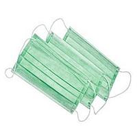 Хірургічні маски (тришар. на гумках) - 50 шт/уп, зелені, DOCHEM