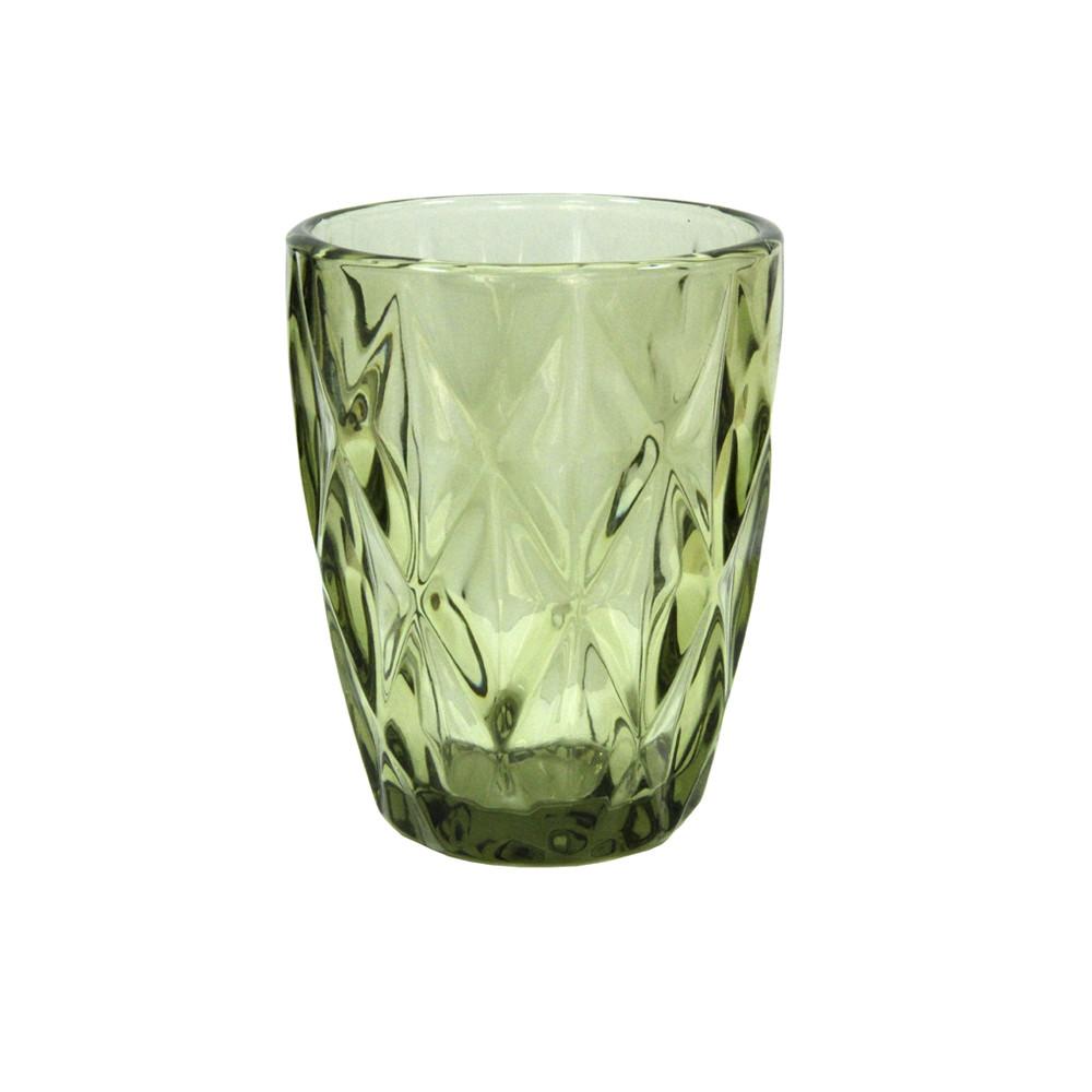 Стакан из цветного стекла Изумруд зеленый, 250 мл
