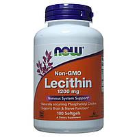 Лецитин для улучшения работы мозга, Lecithin, Now Foods, 1200 мг, 100 капсул