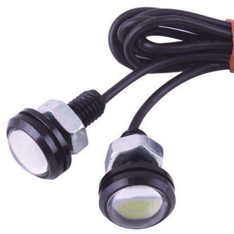 LED дневные ходовые огни, 2x9Вт 12В DRL 6000K