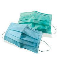 Хирургические маски  - 50 шт/уп, синие, зеленые, DOCHEM