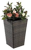 Напольный садовый горшок вазон для цветов из петана, высота 50 см