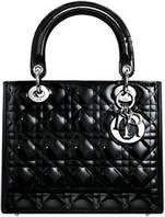 Лаковая сумка Lady Dior