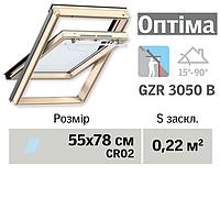 Мансардне вікно VELUX Оптіма (нижня ручка, 55*78 см)