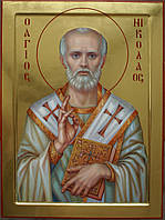 Сусальное золочение икон Святого Николая Чудотворца.