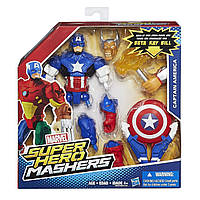 Разборные фигурки супергероев, Капитан Америка - Captain America, Mashers, Marvel, Hasbro