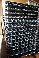 Стеллаж универсальный с ящиками, 126 ячеек