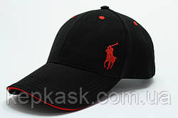 Копия Бейсболка коттон Black Polo-5