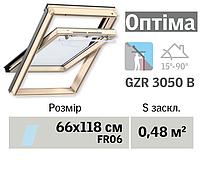 Мансардне вікно VELUX Оптіма (нижня ручка, 66*118 см)
