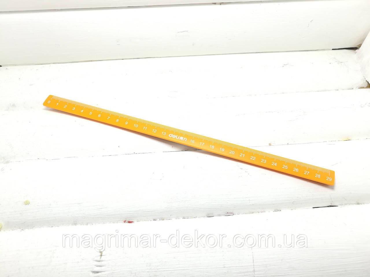 Магнитная линейка для доски Deli 29см