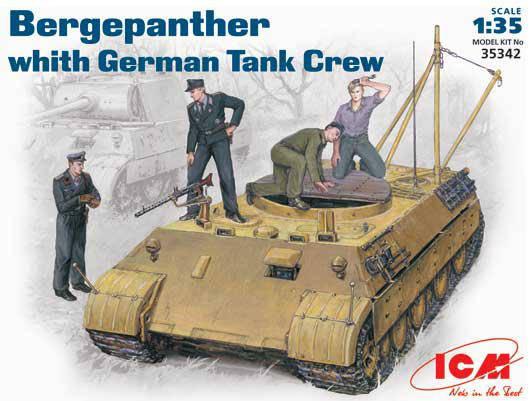 Bergepanther c немецким танковым экипажем. 1/35 ICM 35342, фото 2