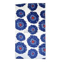 """Полотенце для рук и лица Home Line велюровое """"Цветы"""" 50х90 см (125723) Синие"""