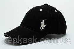 Копия Бейсболка коттон Black Polo-1