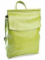 Рюкзак женский кожаный NO-6006 Green