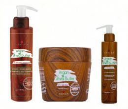 Набор от LOVIEN:Шампуню + маска + масло для питания и увлажнения волос с маслами арганы и ши