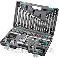 Набор инструментов 1/2  1/4 CrV пластиковый кейс 88 предм. STELS 14109