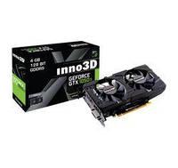 Видеокарта GeForce GTX1050Ti, Inno3D, Twin X2, 4Gb DDR5, 128-bit, DVI/HDMI/DP, 1392/7008 MHz (N105T-1DDV-M5CM)