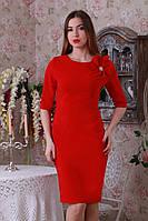 Женское платье из костюмного трикотажа