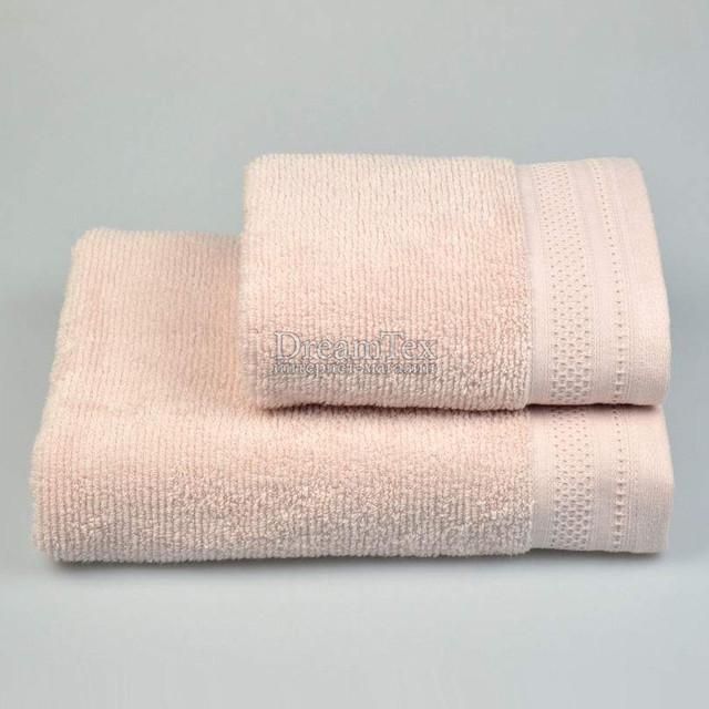 "Полотенце для рук и лица махровое Home Line ""Microcotton"" 50х85 см (126261) Розовое"
