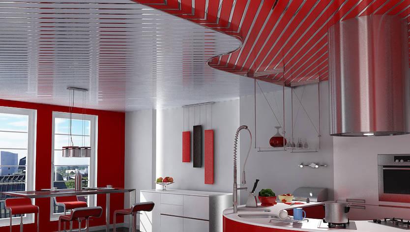 """Алюминиевые реечные потолки """" Медь + зеркало-С1), фото 2"""