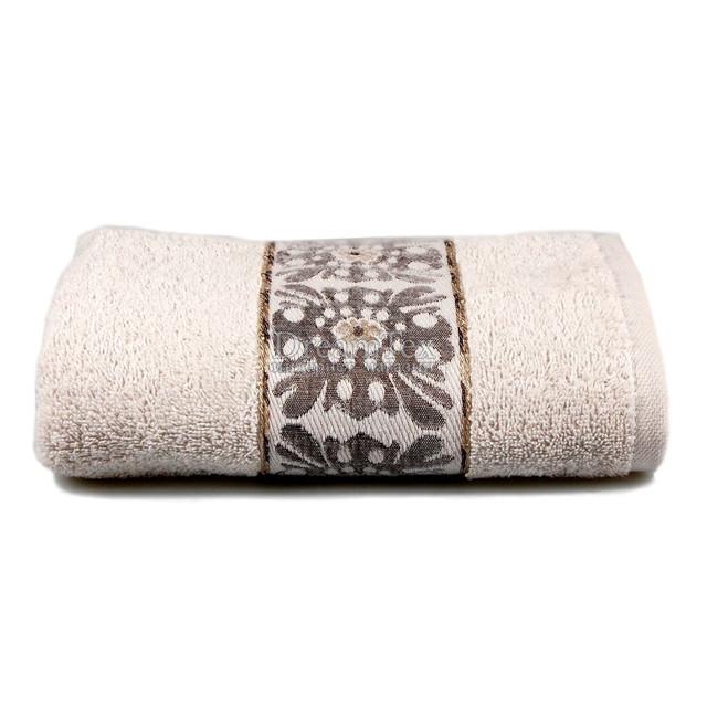 """Полотенце для рук и лица махровое Home Line """"Oriental"""" 50х90 см (110517) Светло-серое"""