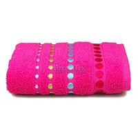 "Полотенце для рук и лица махровое Home Line ""Pretty Dots"" 50х90 см (105639) Розовое"