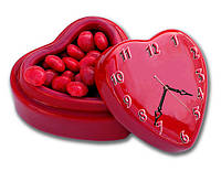 """Красивые фигурные настенные часы """"Мой подарок"""" 30х40 см"""