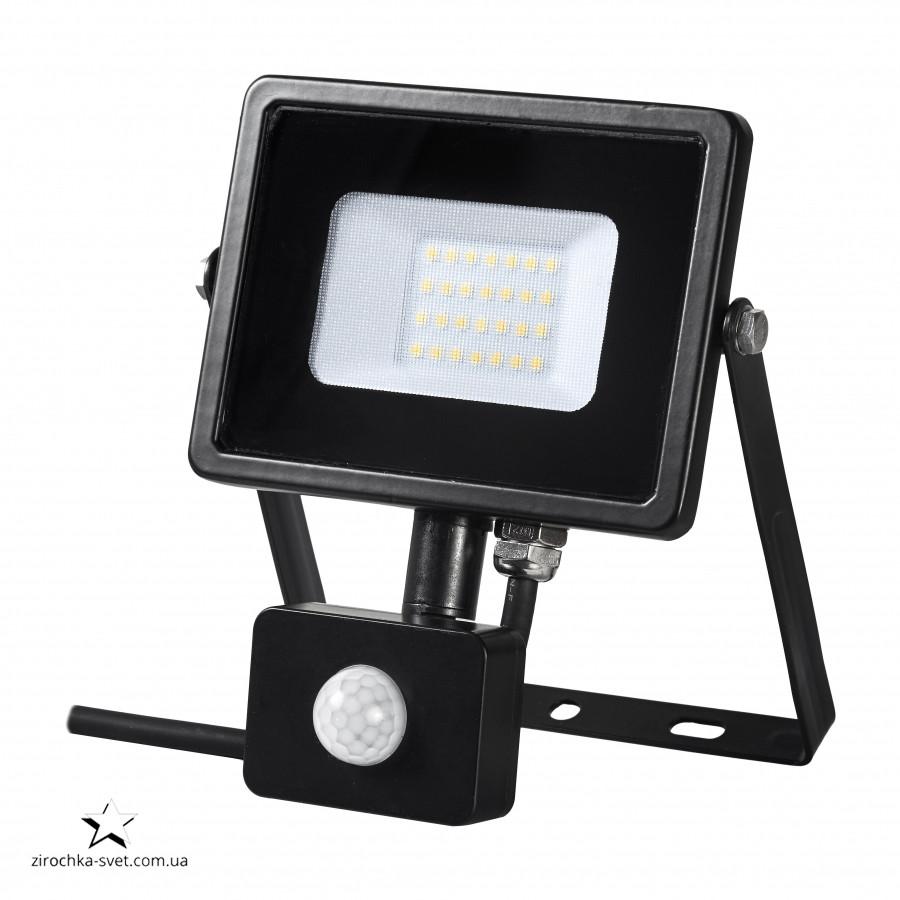 Прожектор светодиодный 20W с датчиком движения DELUX FMI S 6500К 2835SMD