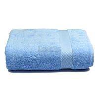 Полотенце банное махровое с бордюром Home Line 70х140 см (125400) Голубое