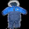 Детский зимний термокомбинезон р. 98: штаны и куртка на флисе и отстегивающейся овчине РСЦ6