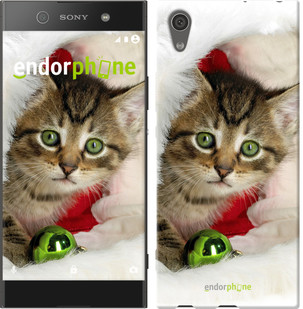 "Чехол на Sony Xperia XA1 Новогодний котёнок в шапке ""494c-964-571"""