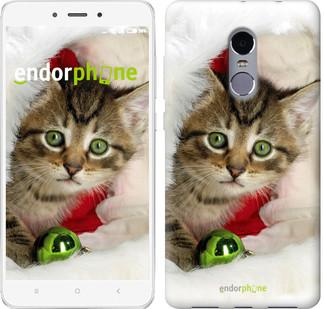 """Чехол на Xiaomi Redmi Note 4 Новогодний котёнок в шапке """"494c-352-571"""""""
