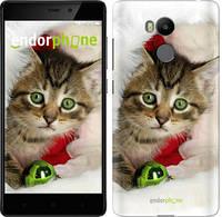 """Чехол на Xiaomi Redmi 4 Prime Новогодний котёнок в шапке """"494c-437-571"""""""
