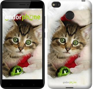 """Чехол на Xiaomi Redmi 4X Новогодний котёнок в шапке """"494c-778-571"""""""
