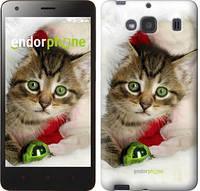 """Чехол на Xiaomi Redmi 2 Новогодний котёнок в шапке """"494c-98-571"""""""