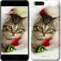 """Чехол на Xiaomi Mi Note 3 Новогодний котёнок в шапке """"494u-978-571"""""""