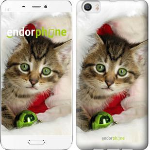 """Чехол на Xiaomi Mi5 Новогодний котёнок в шапке """"494c-180-571"""""""