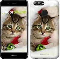 """Чехол на Huawei Nova 2 Новогодний котёнок в шапке """"494c-1021-571"""""""