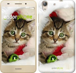"""Чехол на Huawei Y6 II Новогодний котёнок в шапке """"494c-338-571"""""""