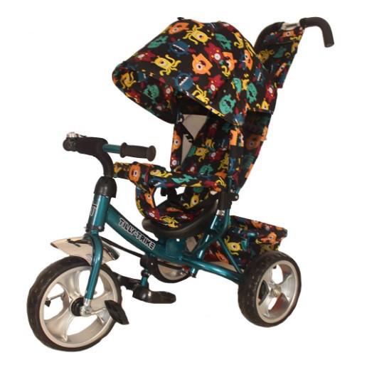 Детский трехколесный велосипед  Tilly Trike T-344-4  бирюзовый, колеса EVA