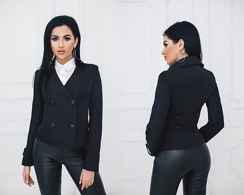 Пиджак женский двубортный на подкладке