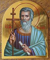 Сусальное золочение иконы Святого апостола Андрея Первозванного для хороса в храм.