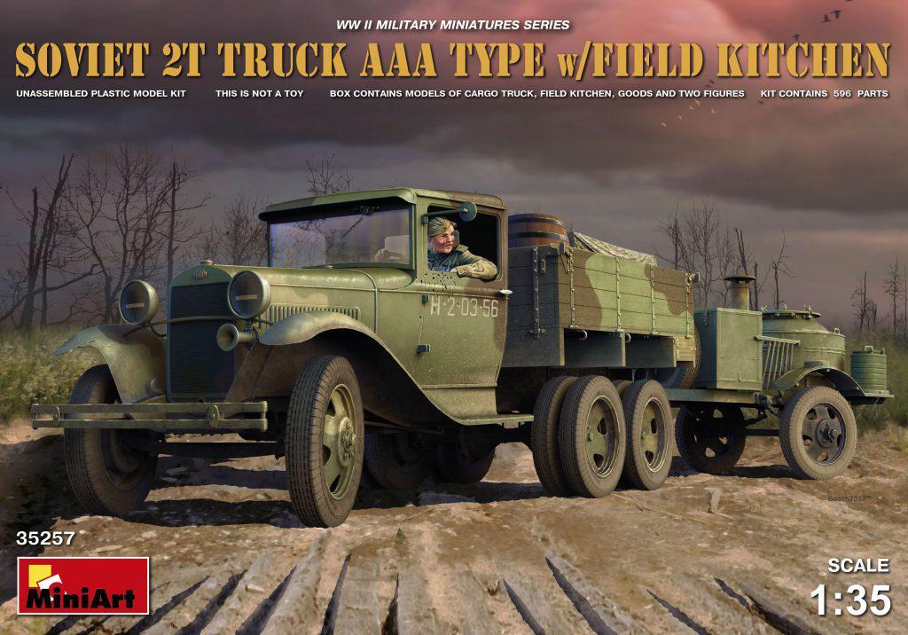 Советский грузовой автомобиль типа AAA с полевой кухней. 1/35 MINIART 35257
