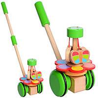 Деревянная игрушка Каталка, MD 1033, 003673