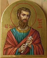Сусальное золочение иконы Святого апостола Варфоломея для хороса в храм.