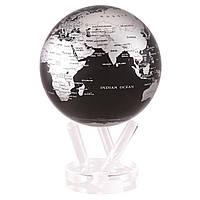 """Глобус самовращающийся левитирующий Mova Globe """"Политическая карта"""", черный, диаметр 153 мм (США)"""