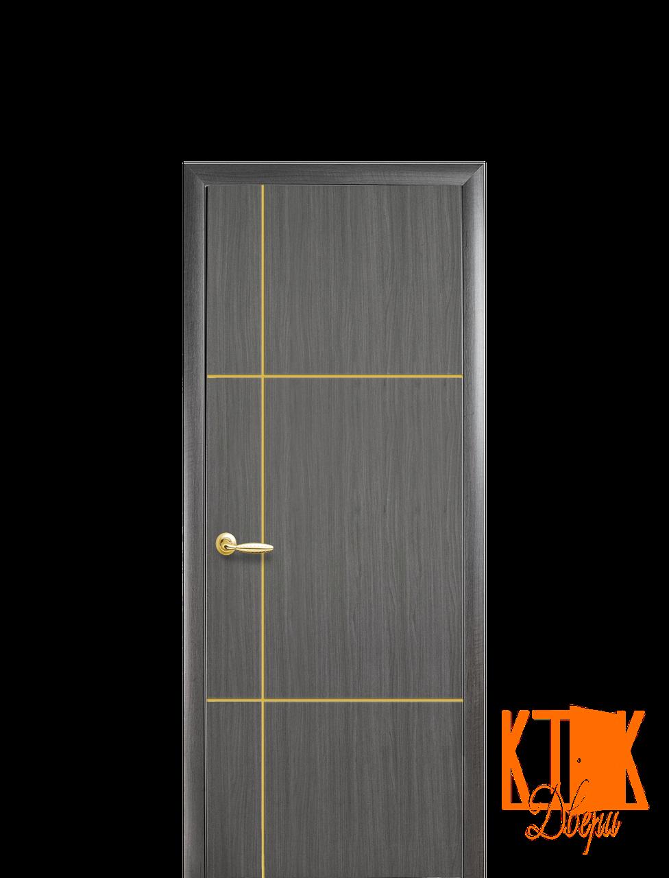 Межкомнатные двери Новый Стиль Ника Gold ПВХ (серый)