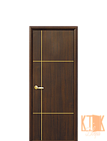 Межкомнатные двери Новый Стиль Ника Gold ПВХ (каштан)