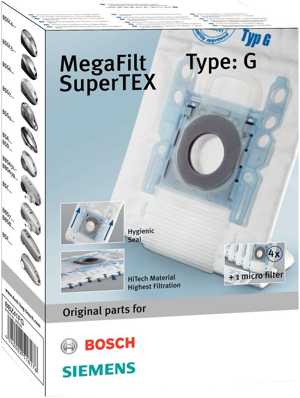 Мешок для пылесоса одноразовый + фильтр Bosch BBZ41FG