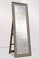 Зеркало напольное Factura в пластиковом багете с опорной деревянной подставкой 60х174 см, фото 1